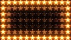 Boucle brillante d'orange de bloc d'étoiles clips vidéos