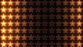 Boucle brillante d'orange de chiffon d'étoiles clips vidéos