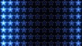 Boucle brillante de bleu de chiffon d'étoiles banque de vidéos