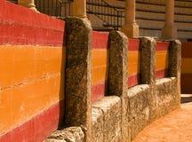 Boucle célèbre de taureau en Séville images libres de droits