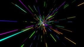 Boucle colorée clairsemée de faisceau lumineux illustration libre de droits