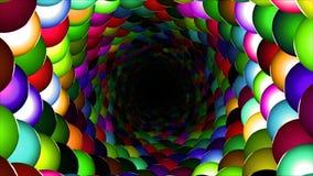 Boucle colorée de Flyghtrough de tunnel banque de vidéos