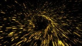 Boucle concentrique circulaire d'étincelles de rayonnement illustration libre de droits