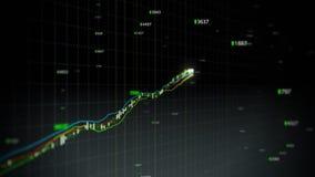 Boucle croissante d'indice des actions illustration stock