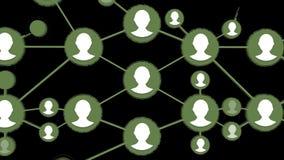 Boucle croissante de réseau Animation sociale de réseau pour l'usage dans les présentations, les manuels, la conception, etc. illustration de vecteur