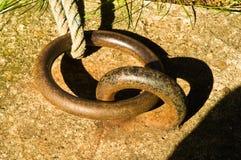 Boucle d'amarrage Photo libre de droits