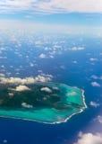 Boucle d'atoll de Polynesia.The à l'océan image stock