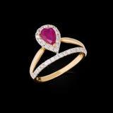 Boucle d'or avec des diamants Images stock
