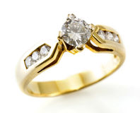 Boucle d'or avec le diamant photographie stock libre de droits