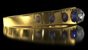 Boucle d'or de diamant Photographie stock libre de droits