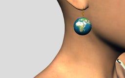 boucle d'oreille 3D   Photos libres de droits