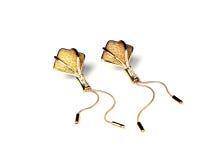 Boucle d'oreille d'or Image libre de droits