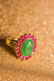 boucle d'or verte Photo libre de droits