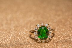 boucle d'or verte Images stock