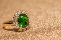 boucle d'or verte Image stock
