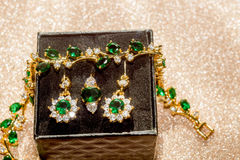 boucle d'or verte Photographie stock