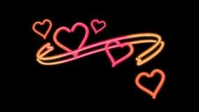 Boucle de couleur de coeur de Nero Image libre de droits