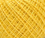 Boucle de couture jaune Photo libre de droits