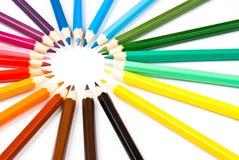 Boucle de crayons Image libre de droits