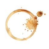 Boucle de cuvette de café. Image libre de droits