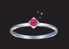 Boucle de diamant. illustration de vecteur