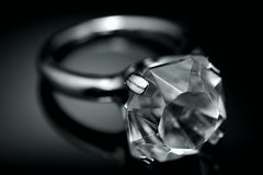 Boucle de diamant photo stock