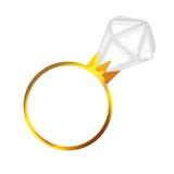 Boucle de diamant d'enclenchement Photographie stock