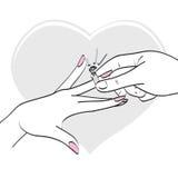 Boucle de diamant de mariage Photo stock