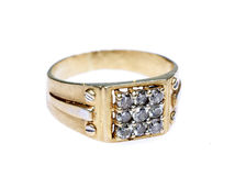 Boucle de diamant mâle Images stock