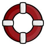 Boucle de durée rouge Photos libres de droits