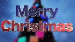 Boucle de fond de Joyeux Noël illustration stock