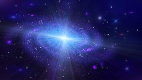 Boucle de galaxie d'espace lointain banque de vidéos