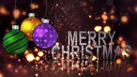 Boucle de la célébration 4K d'ornement de Joyeux Noël clips vidéos