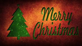Boucle de la larme 4K de papier de Joyeux Noël banque de vidéos