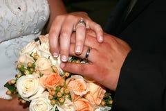 Boucle de mariage photo libre de droits