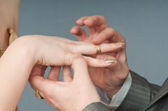 Boucle de mariage. Photos libres de droits