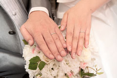 Boucle de mariage photo stock