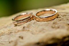 Boucle de mariage d'or Images stock