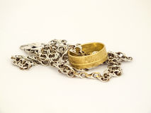 Boucle de mariage d'or Images libres de droits