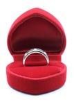 Boucle de mariage de diamant Photo stock