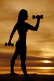 Boucle de marteau de femme de silhouette photo libre de droits