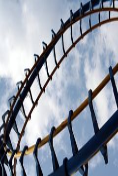 Boucle de montagnes russes Photos libres de droits