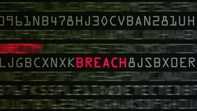 Boucle de mots à la mode de protection de l'ordinateur banque de vidéos