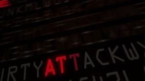 Boucle 2 de mots à la mode de protection de l'ordinateur banque de vidéos