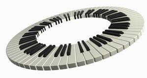 Boucle de piano Photographie stock libre de droits