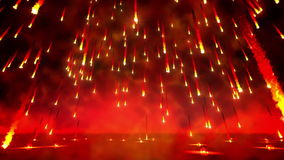 Boucle de pluie du feu illustration libre de droits