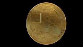 Boucle de rotation de Bitcoin banque de vidéos