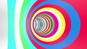 Boucle de rotation de tunnel de couleur illustration de vecteur