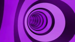 Boucle de rotation de tunnel de couleur illustration stock