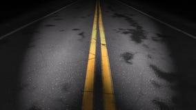 Boucle de route de nuit, phares clips vidéos